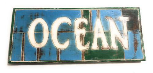 "Ocean Sign 14"" - Rustic Coastal Tone - Cottage Decor | #bds1208135"