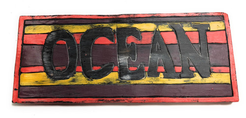 "Ocean Sign 14"" - Rustic Earth Tone - Cottage Decor 