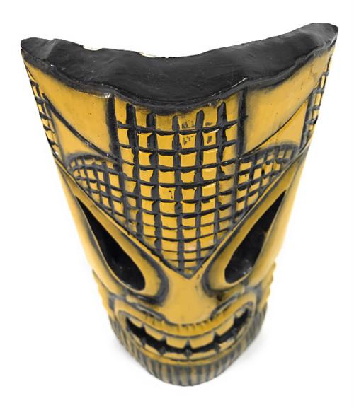 "Tropical Tiki Mask 12"" - Burnt Finish - Faux Bamboo | #dpt53630"