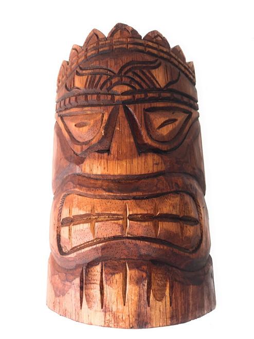 "Love Tiki Mask 8"" - Antique Finish Hand Carved | #dpt501520"