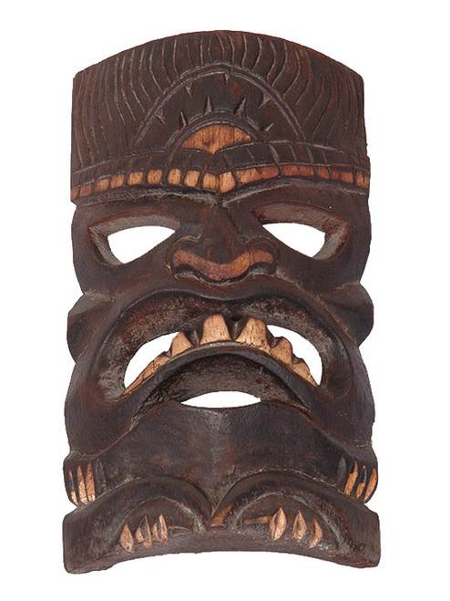 """Prosperity Tiki Mask 8"""" - Hand Carved/Painted   #bds1202320"""