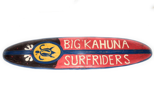 "Big Kahuna Surfriders Rustic Sign 40"" - Surfing Accents 
