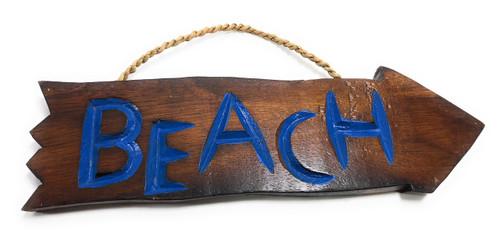 "Beach Arrow Driftwood Sign 12"" - Tropical Decor | #Dpt527930"