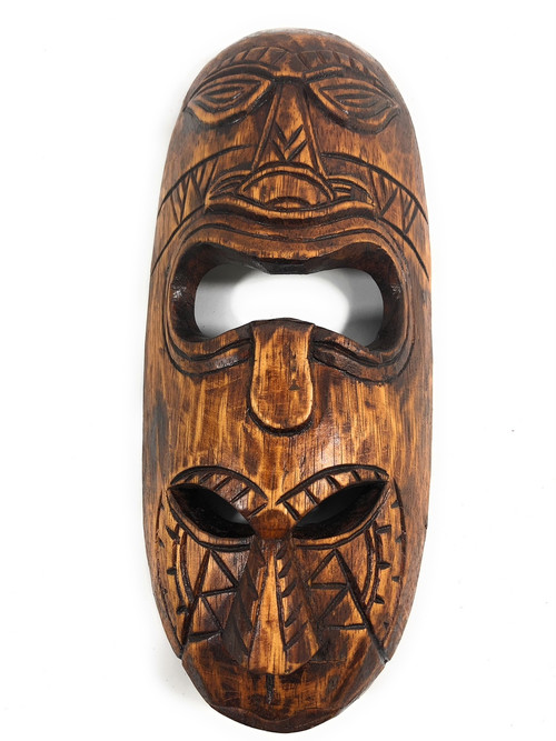 Warrior Fijian Tiki Mask 20 Polynesian Art Mdr1901050 Masks Home Décor