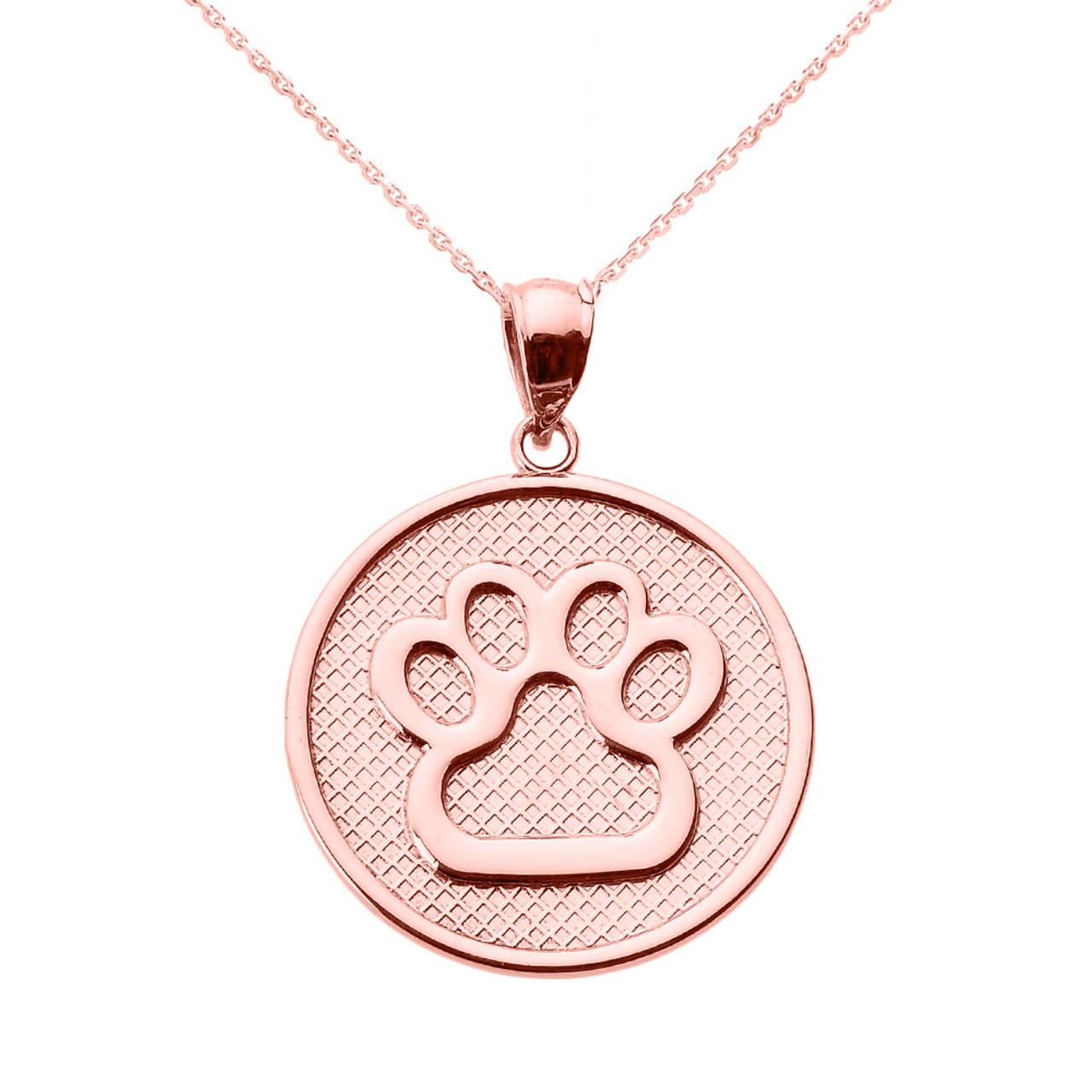 10K Gold Capricorn Zodiac Symbol Cutout Disc Necklace by JEWLR