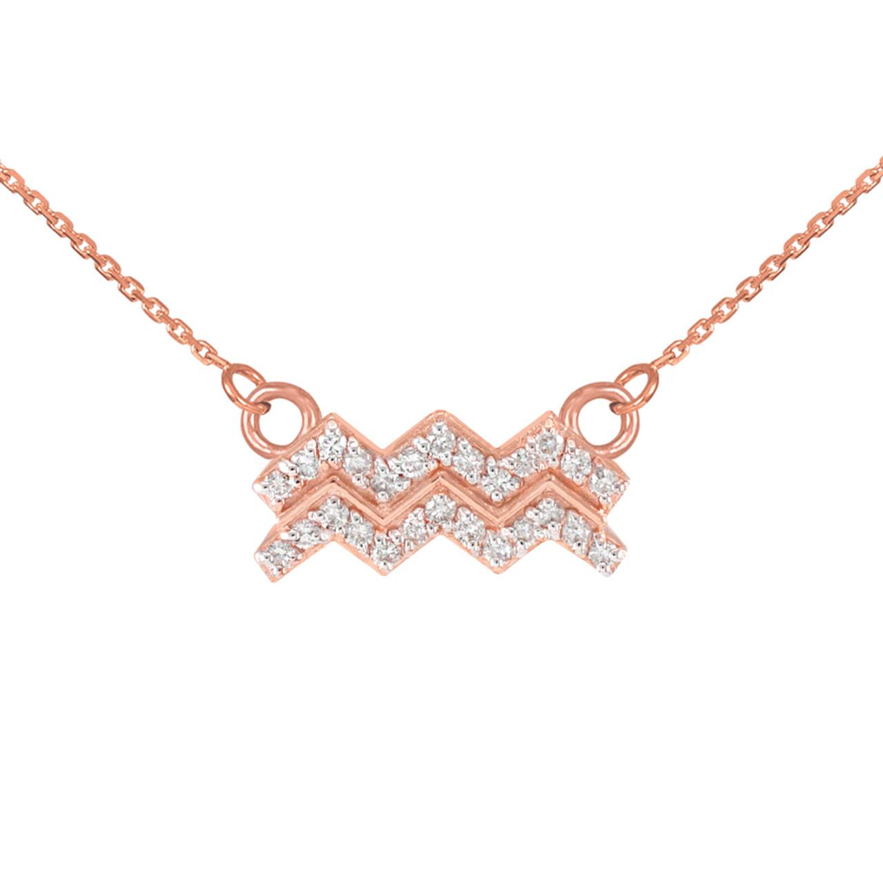 Aquarius Zodiac Necklace Aquarius Sign Jewelry Aquarius Necklace