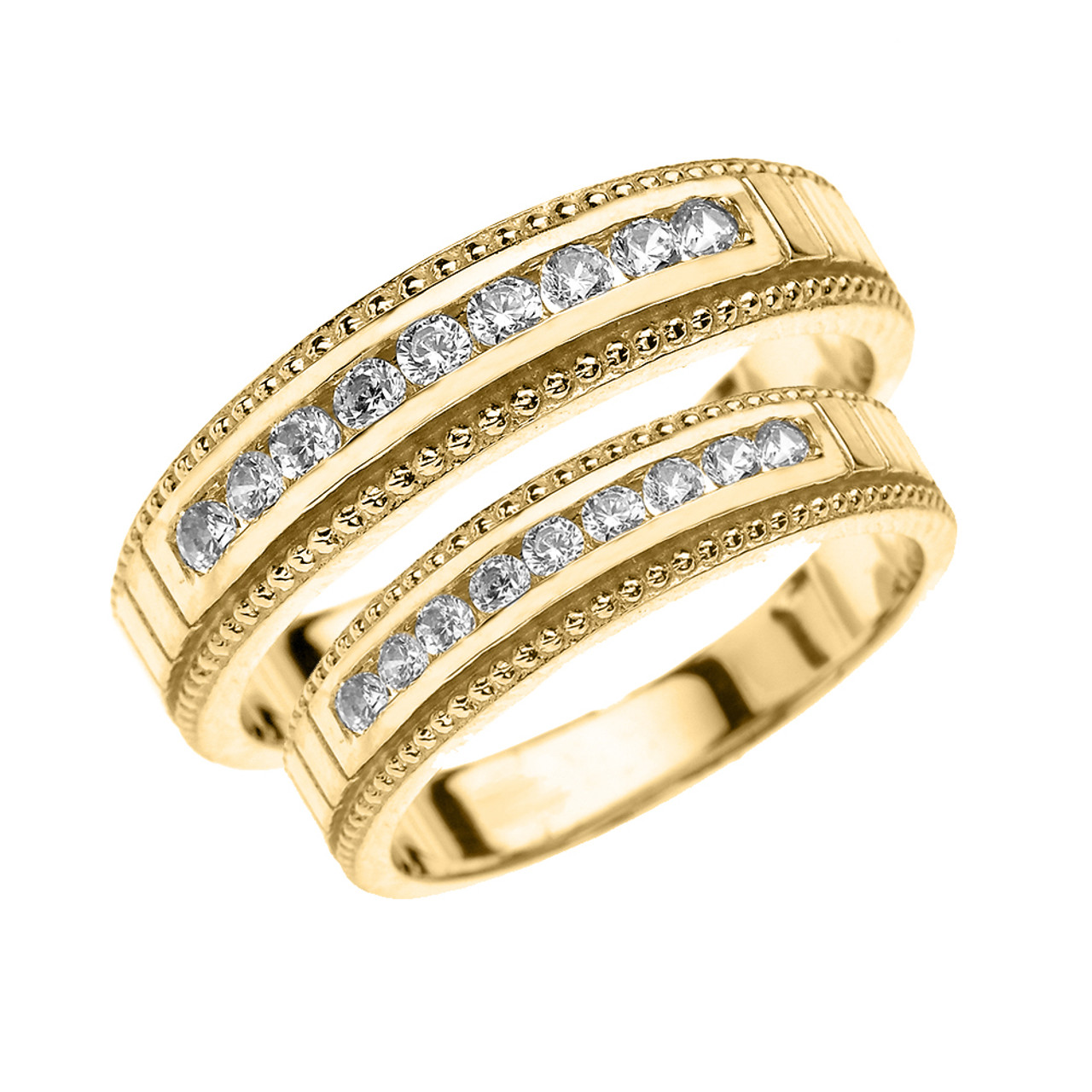 His And Hers Matching Wedding Bands Cheap.Yellow Gold Diamond His And Hers Matching Wedding Bands