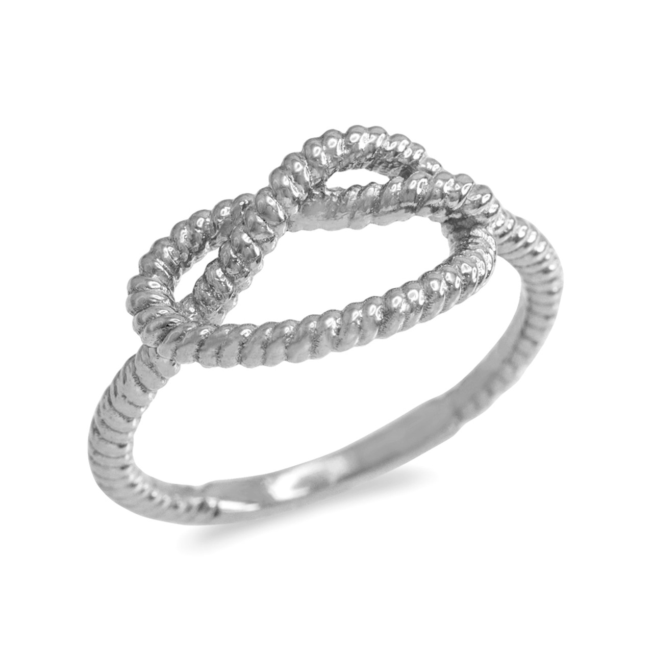 White Gold Knot Promise Ring