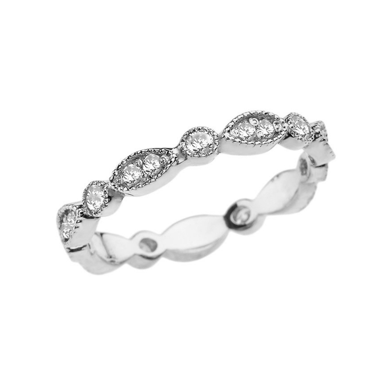 This is a picture of White Gold Fancy Anniversary/Engagement Eternity Band With Cubic Zirconia