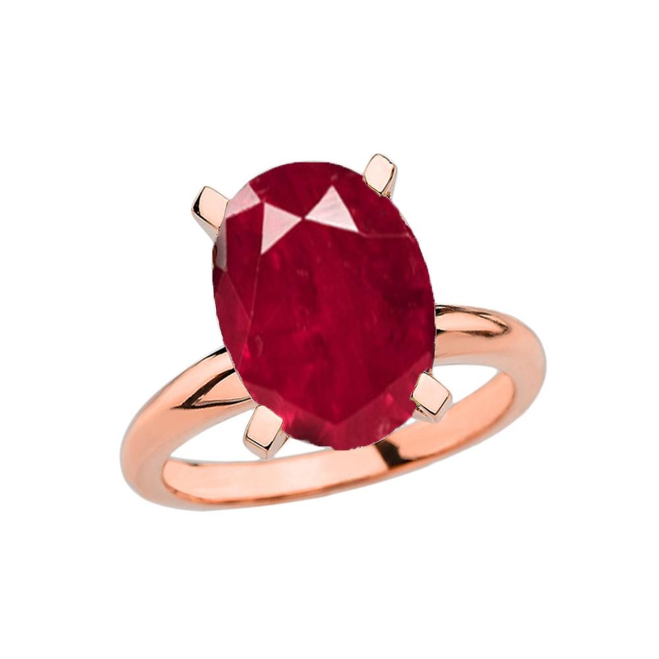 707f9d61cc4a5 Rose Gold Oval Shape Ruby (LCR) Engagement/Proposal Solitaire Ring