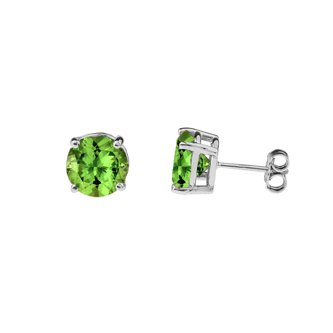 4f50570548a68 10K White Gold August Birthstone Peridot (LCP)Earrings