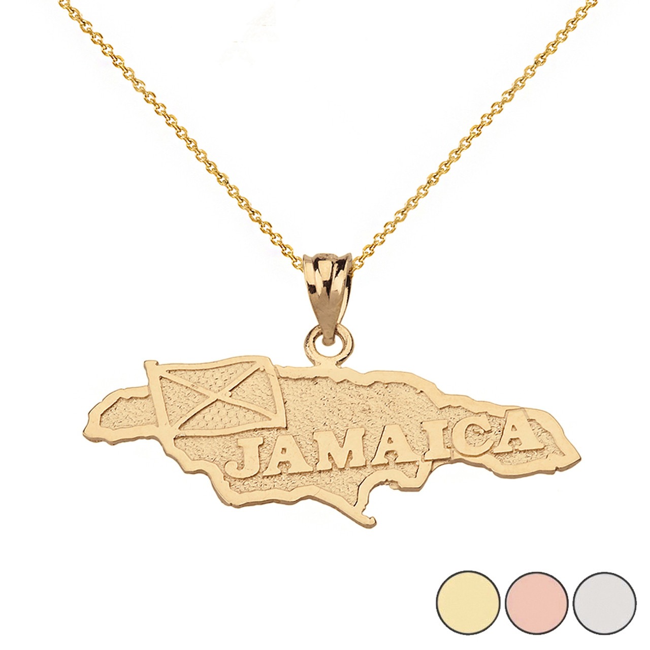 Jamaica Map Pendant Necklace in Solid Gold (Yellow/Rose/White) on map quotes, map ofitaly, map parts, map accessories, map letters, map artwork, map cambodia travel, map flowers, map throw blanket, map snap, map example, map ofusa, map ofcalifornia, map watches, map tilesets, map pendant jewelry, map clock, map phone case, map with hawaii,