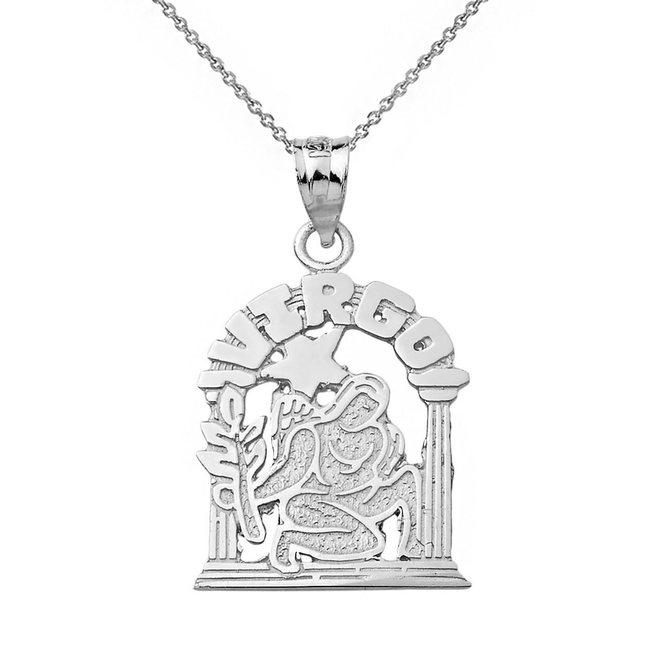 .925 Sterling Silver Zuni Bear Heart-Line Cut Out Pendant Necklace