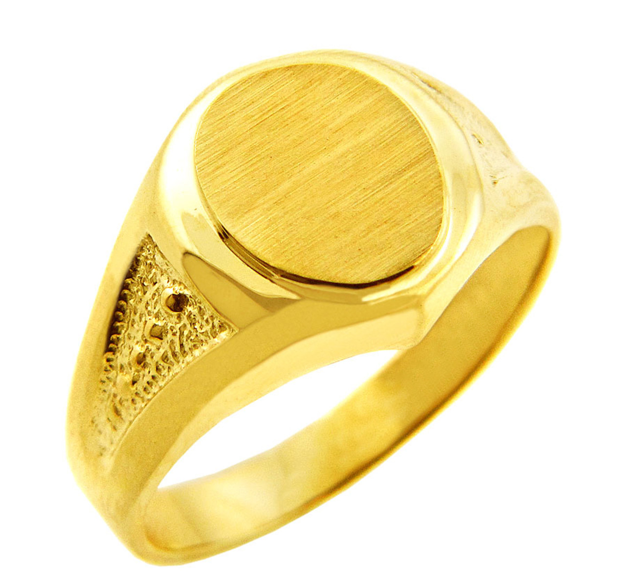 Men S Gold Signet Rings The Apollo Solid Gold Signet Ring