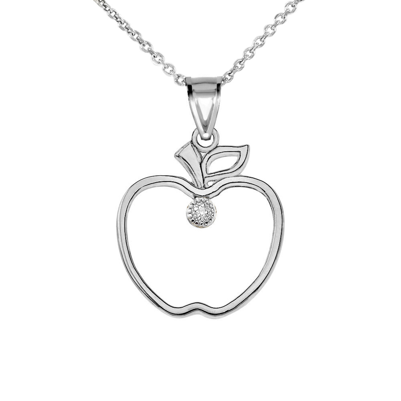 Moon /& Heart Outline Necklace Highly Polished Sterling Silver Star