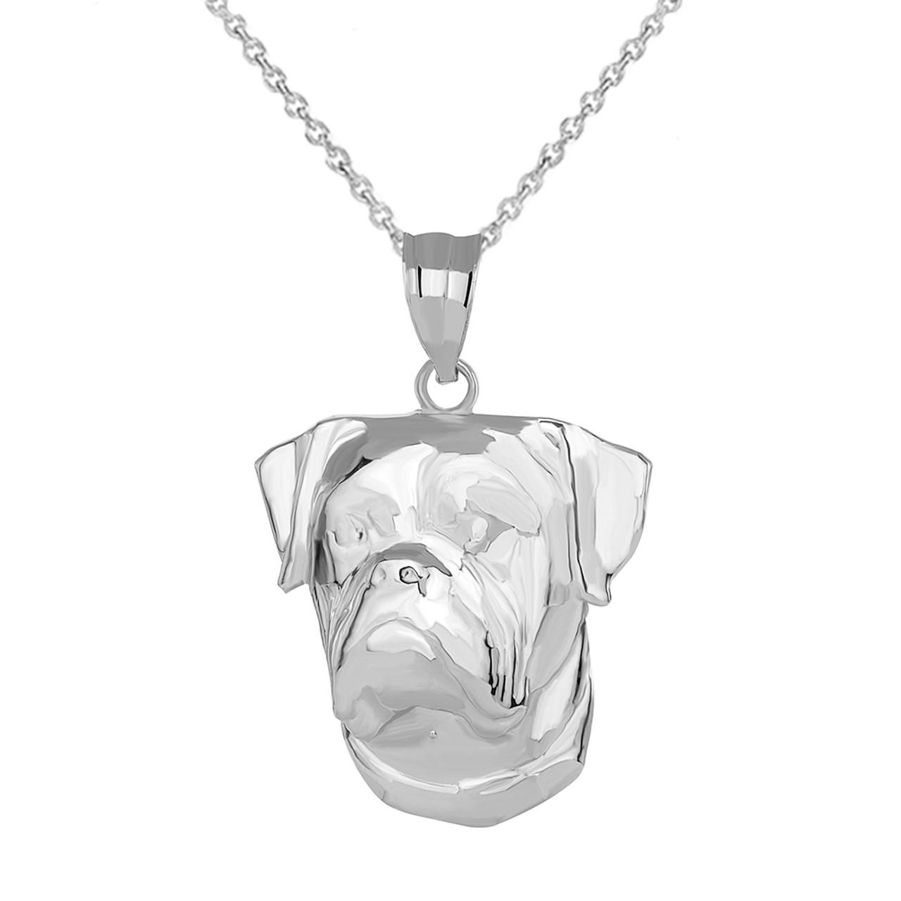 Sterling Silver Bulldog Pendant Head