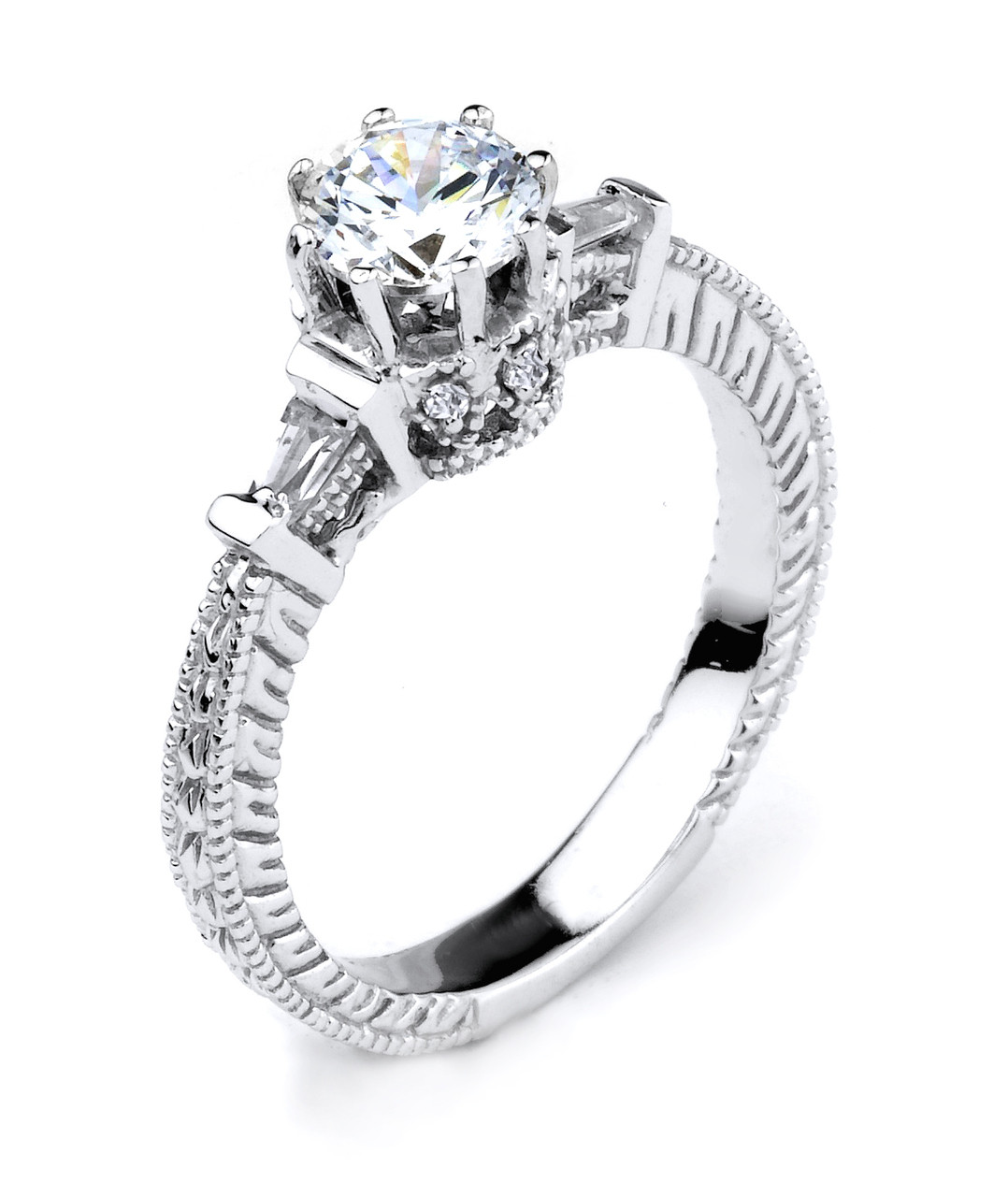 Engagement Ring Cz Engagement Ring White Gold Cz Engagement Ring Cz Solitaire Engagement Ring Round Cz Engagement Ring Cz Engagement Ring