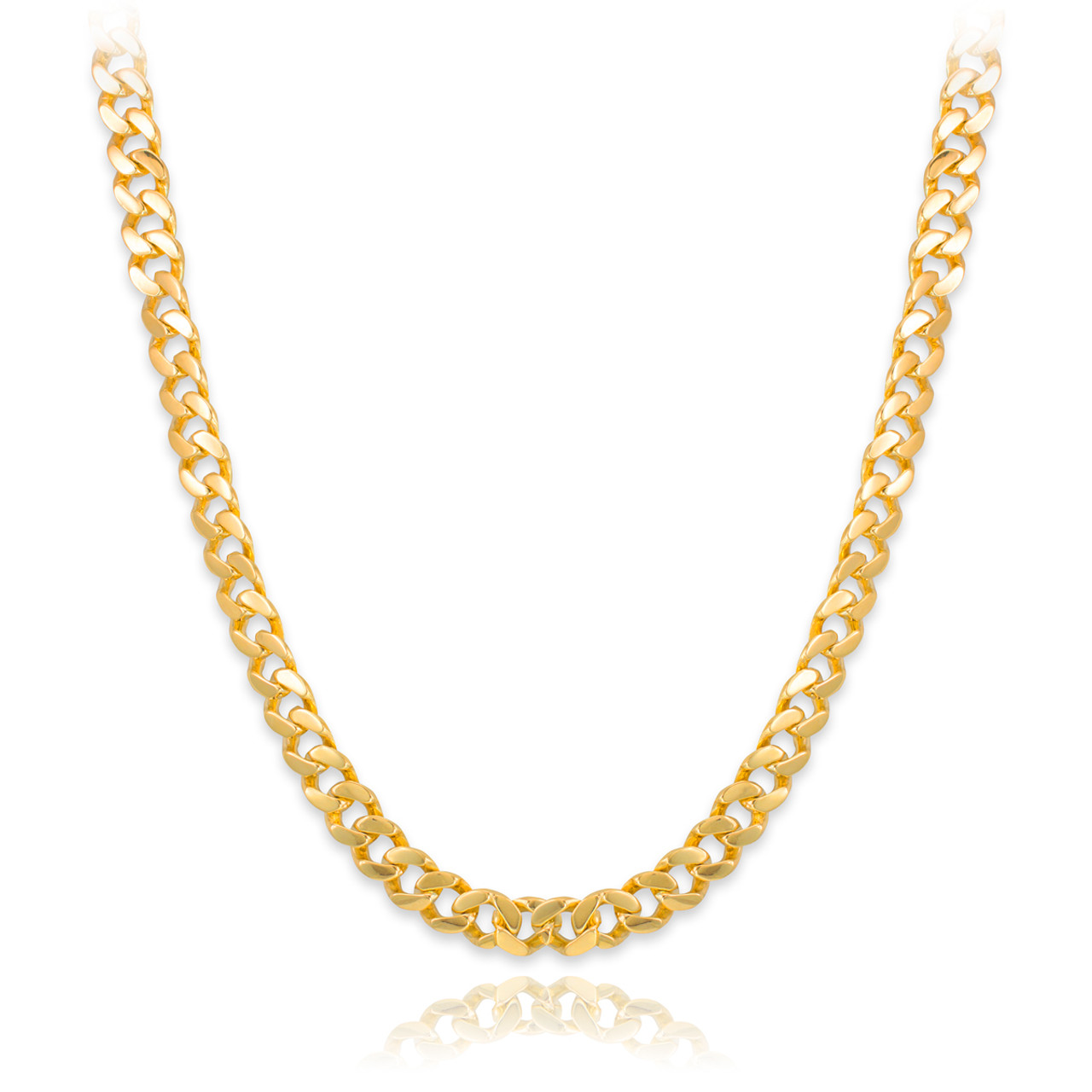 ae660df642e Solid Gold Men s Cuban Link Chain 10mm