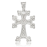 Sterling Silver Orthodox Cross Pendant Necklace