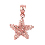 Rose Gold Sea Star Charm Pendant