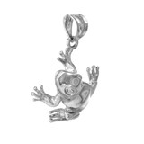 White Gold Frog Pendant Necklace