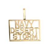 Gold NAVY DESERT STORM Pendant Necklace