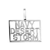 Sterling Silver NAVY DESERT STORM Pendant Necklace