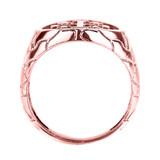Rose Gold Jerusalem Crusaders Cross Men's Ring
