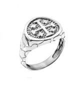 Sterling Silver Jerusalem Crusaders Cross Men's Ring