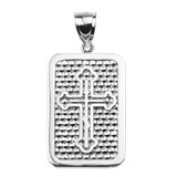 Sterling Silver Orthodox Cross Engravable Pendant Necklace