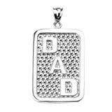 "Sterling Silver ""DAD"" Engravable Pendant Necklace"