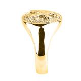 Yellow Gold Landing Eagle Men's Ring