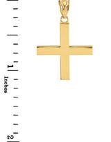 Yellow Gold Greek Cross Pendant Necklace