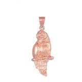 Rose Gold Parrot Pendant Necklace