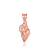 Rose Gold Conch Shell Charm Pendant Necklace