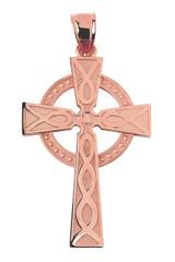 Rose Gold Celtic Cross Pendant Necklace