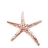 Rose Gold Diamond Cut Starfish Pendant Necklace