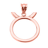 Rose Gold Taurus May Zodiac Sign Pendant Necklace