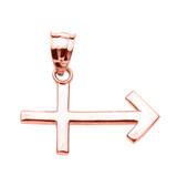 Rose Gold Sagittarius December Zodiac Sign Pendant Necklace