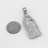 Sterling Silver Guadalupe Small Pendant