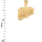 Gold San Francisco Cable Car Pendant Necklace