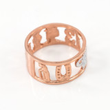 Two-tone Rose Gold Lucky Ring
