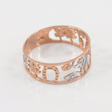 Two-tone Rose Gold Lucky 7 Ring
