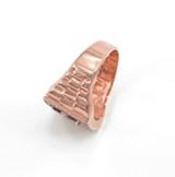 Rose Gold Watchband Design Men's Masonic CZ Ring