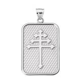 Sterling Silver Maronite Cross Pendant Necklace