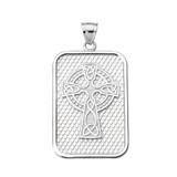 Sterling Silver Trinity Knot Celtic Cross Pendant Necklace