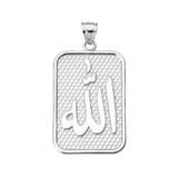 White Gold Allah Pendant Necklace