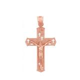 Rose Gold Crucifix Pendant Necklace- The Crosses Crucifix