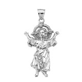 Sterling Silver Baby Jesus Cubic Zirconia Pendant Necklace