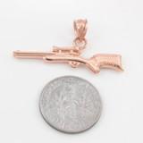 Rose Gold Scope Sniper Rifle Pendant Necklace